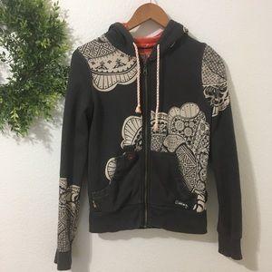 Billabong Gray Pattern Hoodie